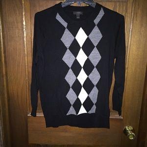 J crew tippi argyle pullover